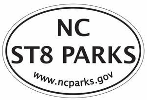 "North Carolina State Parks Bumper Sticker  4""x 6"""