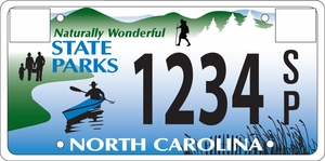 North Carolina State Parks License Plate