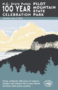 Pilot Mountain State Park Commemorative Poster