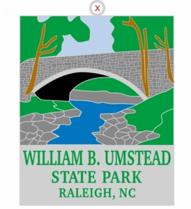 William B Umstead State Park Christmas Ornament