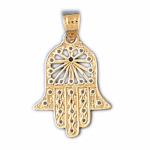 14K Gold Hamsa Hand Protection Charm