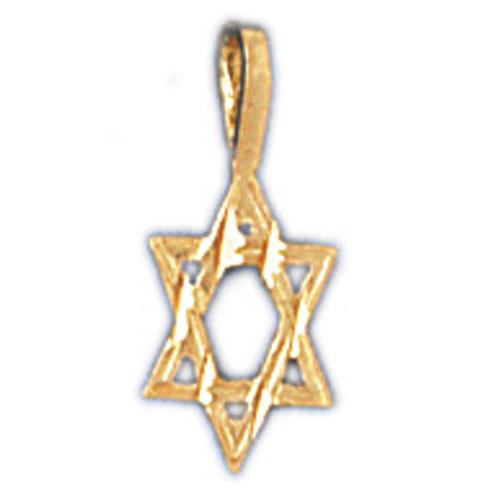 14K GOLD JEWISH CHARM - STAR OF DAVID