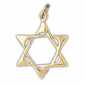 14K Gold Jewish Star of David Charm
