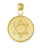 14K Gold Jewish Star of David Medallion