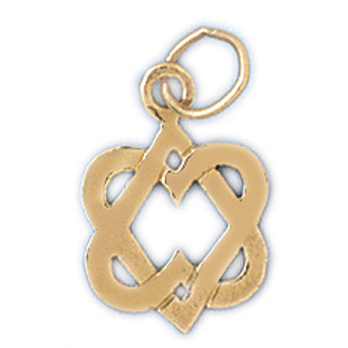 14K Gold Star of David Charm