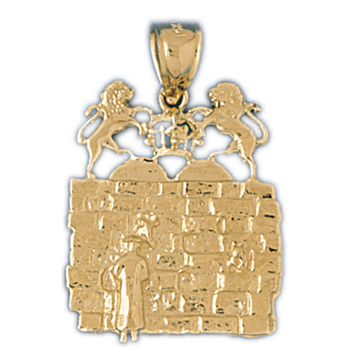 14K Yellow Gold Jewish Pendant