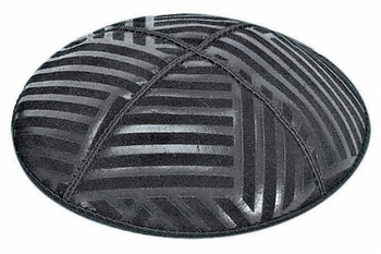 Angle Stripes Embossed Kippah