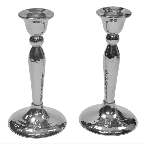 Candlestick Nickel Hammered