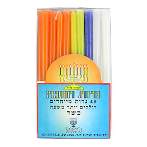 Chanukah Candles Assorted Colors