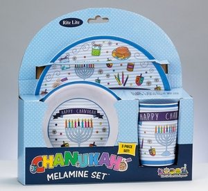 3 Piece Chanukah Children's Melamine Set