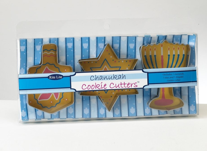 Chanukah Metal Cookie Cutters -3 Assorted Shapes