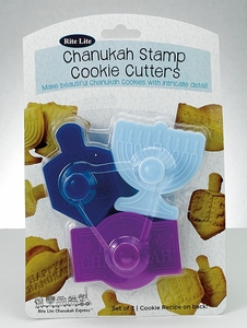 Chanukah Stamp Cookie Cutters, 3 Shapes