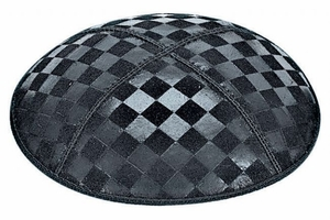 Checkerboard Embossed Kippah
