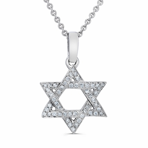Jewish Diamond Star of David Pendent