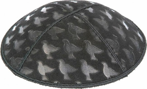 Doves Embossed Kippah