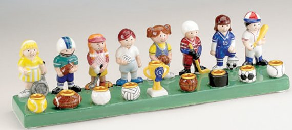 Sports Ceramic Menorah