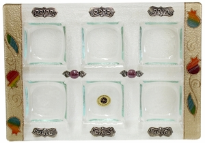 Glass Seder Plate Recatngle By Lily