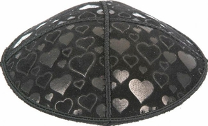 Hearts Embossed Kippah