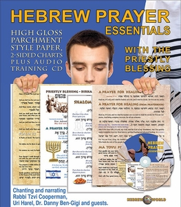 Hebrew Prayer Essentials - Glossy Charts + Audio Tutoring CD