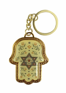KEY CHAIN HAMSA, STAR OF DAVID