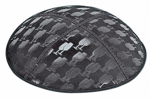L'chaim Cups Embossed Kippah