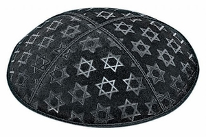 Large Star of David Embossed Kippah