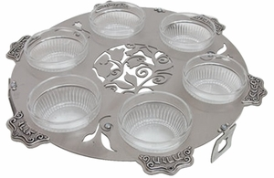Lazer Cut Seder Plate Round By Lily