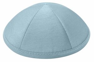 Light Blue Raw Silk Kippah