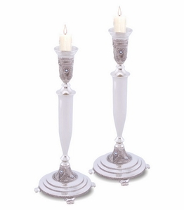 NICKEL CANDLESTICKS