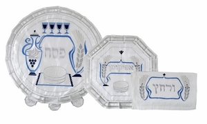 Passover Set /w Towel - Color Embroideryg