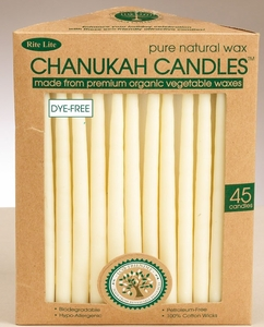 Chanukah Candles - Organic Vegetable Wax, Ivory