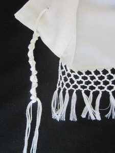 Talit Net Fringes White #70 - Yemenite Style