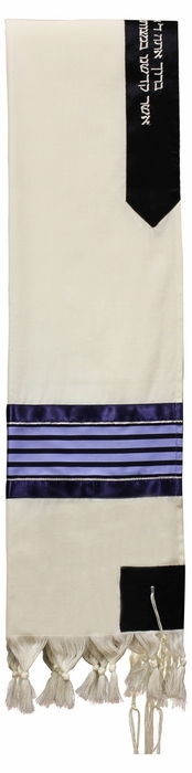 Wool Shades of Blue Tallit Set