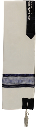 Viscose Rayon Blue Tallit Set
