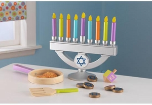 Wooden Chanukah Set
