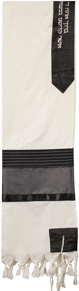 Viscose Black and Grey Tallit Set