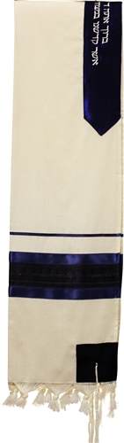 Wool Blue and Gold Shades Tallit Set