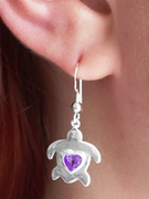 Gemstone HonuHeart (Turtle) Earrings