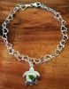 Heart Link Bracelet with Gemstone Honu (Turtle)