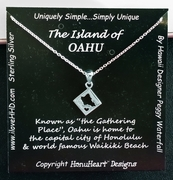Islands of Hawaii - Island of Oahu Necklace