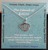 Islands of Hawaii - Kauai Island necklace