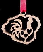 Kauai Rooster Birch Wood Christmas Ornament