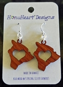 Koa Wood Earrings Big Island
