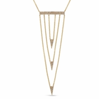14K Gold & Diamond Bib Necklace by Bassali