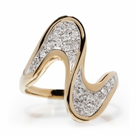 Fun Swirl Diamond Pave Ring