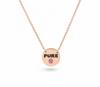 "14K Rose Gold & PGD Pink Diamond Necklace - ""PURE"""