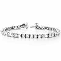 14K White Gold and Diamond Tennis Bracelet - 5 ctw