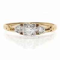 14K Yellow & Diamond Vintage Ring