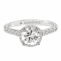 18K Diamond Micro Set Engagement Ring .59ctw