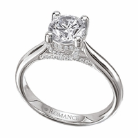 18K Trellis Diamond Engagement Ring .14ctw Romance Collection